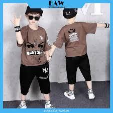 Set Đồ Bé Trai phong cách hàn quốc, thời trang trẻ em thương hiệu BAW mã 66  | Áo bé trai khác
