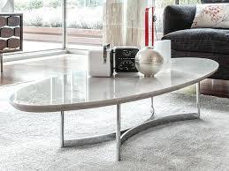 white oval coffee table striking marble top coffee table by furniture oval gloss coffee table set white