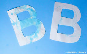 b is for bubble letter craft 3