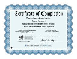 Making A Certificate Making The Transition From Staff To Supervisor Certificate
