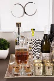 Image result for how to decorate a bar cart