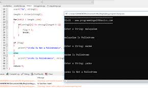 Java object oriented programming programming. C Program To Check String Is A Palindrome Or Not