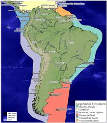 Map Of South America Defining The Five Subregions As