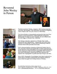 Worship Service Welcoming John Wesley, (aka The Reverend Don Baldwin)  founder of the Methodist Church | Colfax Area Chamber of Commerce