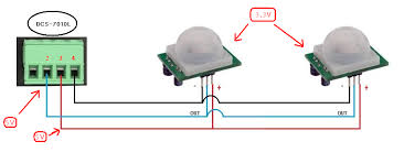pir motion sensor wiring diagram pir image wiring wiring pir sensors in parallel wiring auto wiring diagram schematic on pir motion sensor wiring diagram