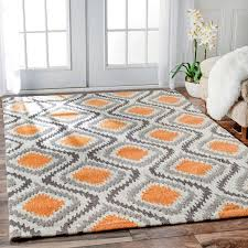 home and furniture best choice of orange and white rug at 16 rugs images on