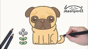 cute pug drawing. Contemporary Drawing How To Draw A Pug Easy Step By Inside Cute Drawing T