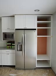 Microwave Furniture Cabinet Stylish Modern Kitchen Design With Oak Modular Cabinet Added