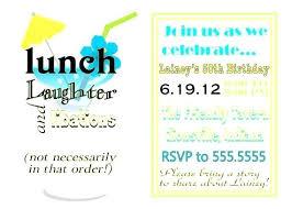 Birthday Invitation Wording Elegant Birthday Lunch Invitation To