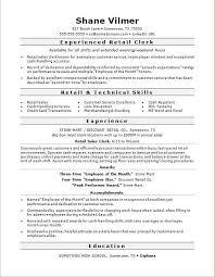 Retail Job Description For Resume Revive210618 Com