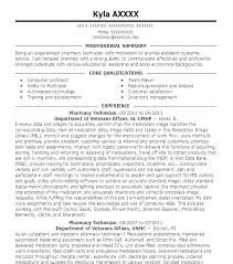 Entry Level Pharmacy Technician Resume – Resume Sample Web