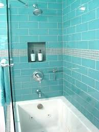 glass tile showers clear subway large tiles for shower aqua 4 x