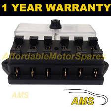 ldv camper io new 6 way universal standard 12v 12 volt atc blade fuse box cover camper van
