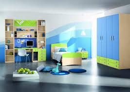 Kids Bedroom Furniture Desk Catchy Kids Bedroom Design Idea With Cool Gradient Blue To White