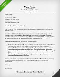 Cover Letter Example Graphic Design Classic Cover Letter