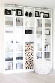 billy bookcases - 4 with glass doors, ikea, with one horizontal on ...