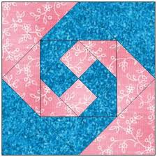 168 best Quilts - Churn Dash/Monkey Wrench/Snail Trail/Shoo Fly ... & All stitches-monkey wrench paper piecing quilt block pattern pdf -109a Adamdwight.com