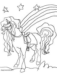 Nuovo Disegni Da Colorare E Stampare Di Cavalli Che Saltano Disegno