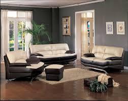 grey walls brown furniture. Furniture. Accent Wall With Brown Furniture Presenting Grey Theme And Cream Black Leather Sofa Walls R