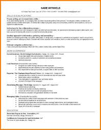 Cover Letter Journalism Resume Sample Journalism Curriculum Vitae