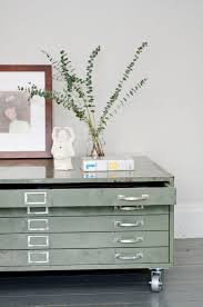architects flat file cabinet coffee