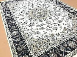 navy oriental rug hand knotted wool silk ivory blue rugs
