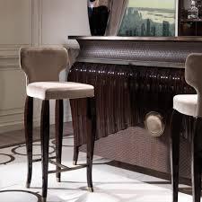 Venetian Walnut Art Deco Style Velvet Bar Stool Venetian Home