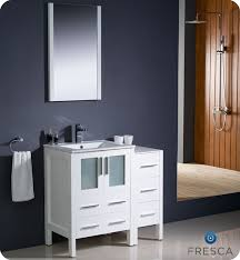 modern white bathroom cabinets. fresca torino 36\ modern white bathroom cabinets
