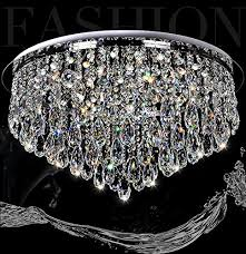 7pm h16 x w32 luxury modern round rain drop clear k9 crystal ceiling light lamp modern contemporary chandelier lighting fixture for bathroom foyer entry