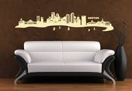 cities places  on wall art vinyl decals with boston skyline wall art east coast flair vinyl decal