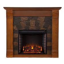 elkmont electric fireplace m antique oak