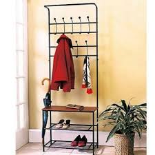 Coat Rack And Shoe Storage Entryway Shelf Bench Metal Coat Rack Shoe Storage Organizer Hooks 82
