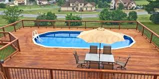 Swimming Pool Deck Above Ground Pools Round Plans