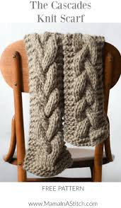 Cable Knit Scarf Pattern Delectable The Cascades Knit Scarf Mama In A Stitch