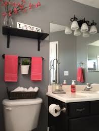 apartment bathroom ideas pinterest. Interesting Pinterest Bathroom Decor Tips On A Budget Love This Gray And Red With Apartment Ideas Pinterest E