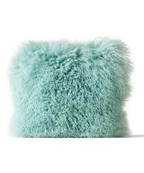 mongolian fur pillow. Unique Mongolian Mint Mongolian Lamb Fur Pillow For U