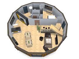 un plan de maison ronde