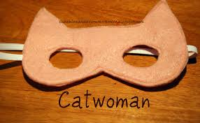 free template for batman and catwoman felt masks
