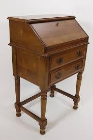 Maple 2 Drawer Secretary Petite Desk With Fold Out Door Early