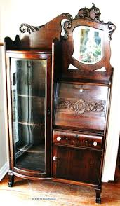 gorgeous american antique drop front oak secretary desk side by side bookcase 1900 1950 photo 63