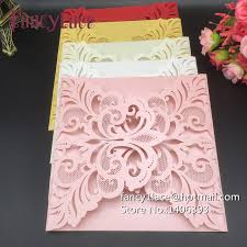 Hot 10pcs Fancy Lace Laser Cut Customizable Business Card Party