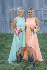 Country Style Wedding Dress With Cowboy BootsCountry Western Style Bridesmaid Dresses
