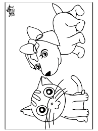 Small Picture Cats And Dogs Coloring Pages fablesfromthefriendscom