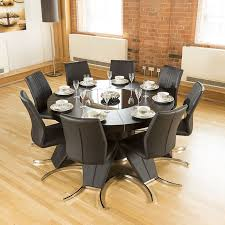 round table with 6 chairs lovely modern round black oak dining table 8 high back z