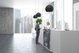 office reception interior. Unique Interior Download Concrete And Marble Office Reception Side People Stock Photo   Image Of Design For Office Interior S