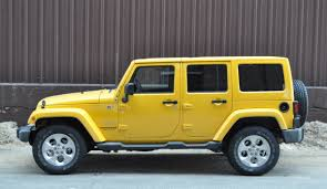 2018 jeep wrangler unlimited sahara side yellow