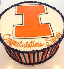 University Of Illinois Graduation Cake Sweetpea Cakes Bakery