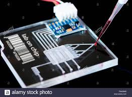 Lab On A Chip Lab On A Chip Lac Technology With A Pipette Stock Photo 101777236