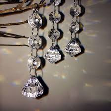10x acrylic crystal diamond beads garland chandelier hanging party wedding decor