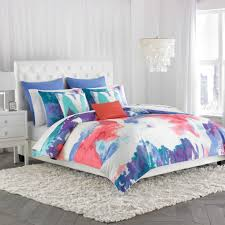 prodigious bed bath beyond duvet covers 100pct cotton material abstract watercolor design blue red color 68x90